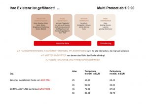Multi Protect mit Bsp. Rechung
